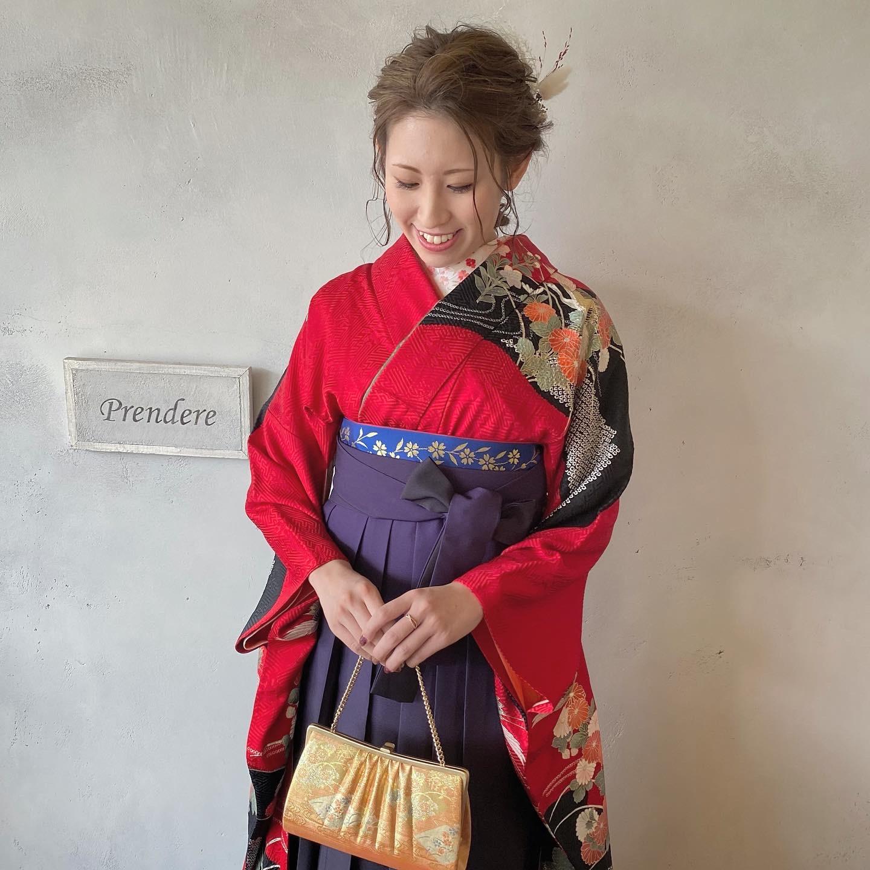 卒業式☆謝恩会の編みおろしスタイル